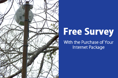 Free Survey - With the Purchase of Your Internet Package